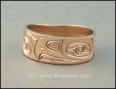 Eagle Ring, 14K Gold by David Neel