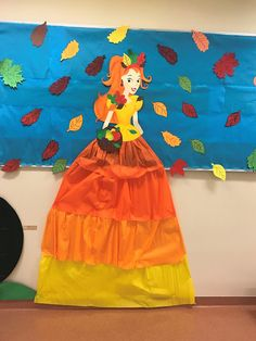Stylowa Pani Jesień Autumn Crafts, Fall Crafts For Kids, Art For Kids, Art And Craft Videos, Diy Arts And Crafts, Kindergarten Crafts, Fairy Princesses, Paper Flowers, Fall Decor