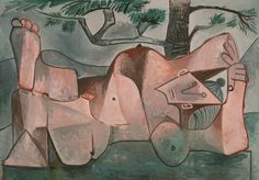 Pablo Picasso  Spanish, worked in France, 1881-1973, Nude under a Pine Tree