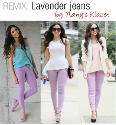 3 Ways To Wear Lavender Jeans by Nany's Klozet