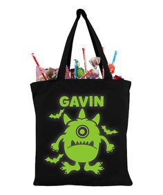 Another great find on #zulily! Scary Goblin Glow In The Dark Personalized Treat Bag by Personalized Planet #zulilyfinds