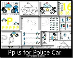 Free Printables: Pp is for Police Car Pack