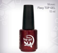 Flexy Top Gel Very flexible top gloss for natural nail manicure or it can be used as a top gloss for sculpted gel nails. Cure time is 2 mins in 36Watt UV lamp or 30-45 secs in LED lamp. Available in 15ml