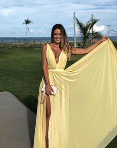 Yellow V Neck Long Prom Dresses,Cheap Prom Dresses CR 512 - Yellow Dresses - Ideas of Yellow Dresses Sequin Prom Dresses, Grad Dresses, Cheap Prom Dresses, Bridesmaid Dresses, Formal Dresses, Wedding Dresses, Dress Prom, Maxi Dresses, Party Dresses