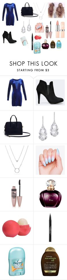 """""""Date night out at a restaurant"""" by jessica-pennington-1 on Polyvore featuring Lacoste, Plukka, Maybelline, Eos, Trish McEvoy and Organix"""