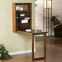 love this! murphy bed meets desk! super space saver #furniture