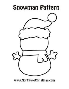 Charming snowman outline to print and embellish. Have a blast making a snowman unique and special with this snowman outline, ready to complete. Applique Templates Free, Felt Templates, Templates Printable Free, Applique Ideas, Christmas Applique, Felt Christmas Ornaments, Christmas Snowman, Snowman Outline, Felt Patterns