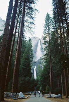 Yosemite National Park Upper & Lower Falls.