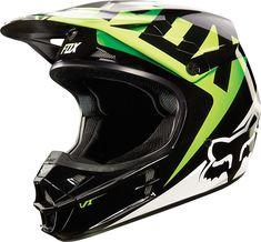 Fox Helm V1 Race Black/Green 2015