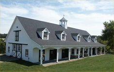 Mid-Sized Barns - The Orchard - Leesburg, Virginia -                 10 horse stalls, wash stall, tack room, grain room, full length porch, full loft