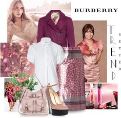 """Burberry"" by justjules2332 ❤ liked on Polyvore"