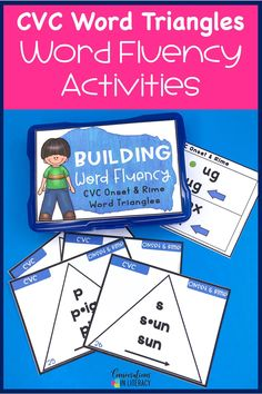 Building fluency and reading comprehension with phonics and decoding activities! Hands on onset and rime activities for kindergarten, first grade, second grade, and third grade. Great for guided reading word work, struggling readers, reading interventions and literacy centers in your elementary classroom.