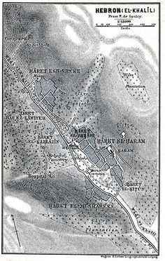 Map of Hebron in 1912