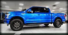 "Levelled 3.5L V6 EcoBoost powered, 2015 ""Blue Flame Metallic,"" Kentwood Kustoms #Ford F-150 Lariat #4X4"
