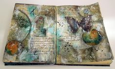 Inky Dinky Doodle: WOYWW #423: Two journal pages