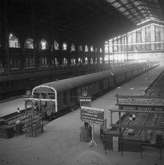Paris, gare du Nord. Les quais, Septembre 1944, Noël Le Boyer Charenton-le-Pont, Médiathèque de l'Architecture et du Patrimoine