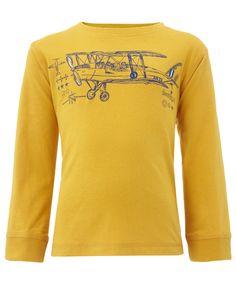 My Design Piran Plane T Shirt OB   Yellow   Monsoon
