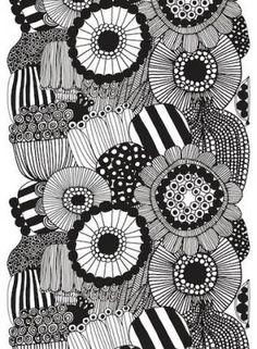 Marimekko fabrics - Buy online from Finnish Design Shop. Discover Unikko and other Marimekko fabrics for a modern home! Scandinavian Design Centre, Scandinavian Fabric, Scandinavian Pattern, Swedish Design, Textile Design, Fabric Design, Pattern Design, Design Art, Design Shop