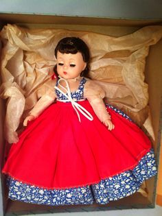 Absolutely gorgeous Madame Alexander Jo doll , 11 inches, in original box with original tissue paper . Relive your childhood -- or make someone special in your life happy -- with this great Madame Alexander Beth doll.