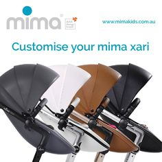 Customise your mima xari like never before! http://www.mimakids.com.au #mima #pram #strolling #mix&match #designyourown