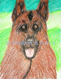 How to draw and paint an Alsatian dog using oil pastels:  https://www.youtube.com/watch?v=a7btcOup-Bg