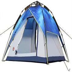 Hoomall Large Camping Tent Family Tent Rainfly Travel Backpacking 34 Person Instant Portable Light Weight With Carry Bag *** Be sure to check out this awesome product.