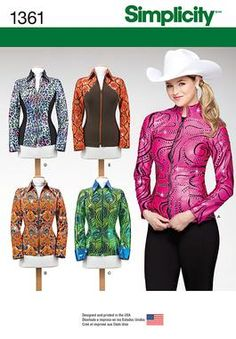 NEW from Simplicity Creative Group - Misses' Knit Equestrian Performance Shirt