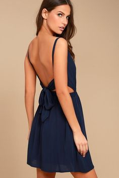 #NewYear #Lulus - #Lulus Here's to the Good Times Navy Blue Skater Dress - Lulus - AdoreWe.com