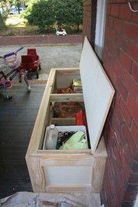 DIY bench with storage