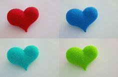 """Pop Heart (""""uneven / non balanced lovecups and a pointy ending""""). Free crochet pattern. Amigurumi"""