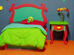 More Cartoon Furniture for a sweet girl's room in Seussical style