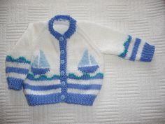 Baby Cardigan Knitting Pattern Free, Baby Boy Knitting, Knitting For Kids, Crochet Cardigan, Baby Knitting Patterns, Baby Patterns, Knit Baby Sweaters, Girls Sweaters, Crochet Baby