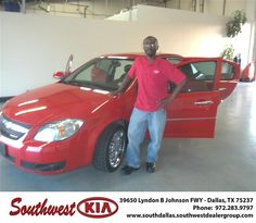 Happy Anniversary to Jonathan Barnes on your 2009 Chevrolet Cobalt from RAFAEL GAONA and everyone at Southwest Kia Dallas