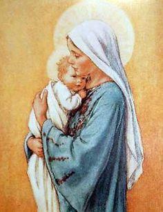 Santa Maria la virgen y el niño Jesús