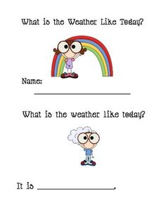 Emergent reader that the students can discuss different types of weather and weather vocabulary. Hope you find it fun and useful. Please leave a comment or rate me!