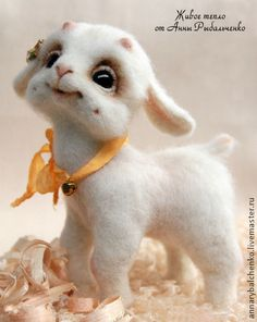 Toy animals, handmade. Fair Masters - handmade Goat Mila. Handmade.