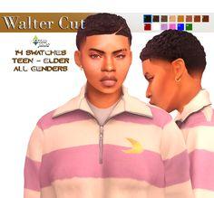 Sims 4 Hair Male, Sims 4 Black Hair, Sims Hair, Sims 4 Mods Clothes, Sims 4 Clothing, Sims Mods, My Sims, Sims Cc, Pelo Sims