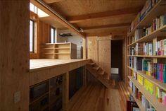 In case you haven't already see the entire amazing archive, it's by Bokhyller via Preik. Plywood Shelves, Bookshelves, Bookcase, Storage Shelves, Shelving, Building Design, Bunk Beds, Furniture Design, Loft