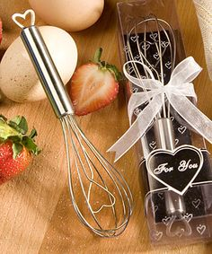 Heart Design Wire Whisk Favors #heart #wedding #favors #valentinesday