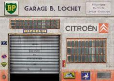 Diorama garage Citroen 1/43. Helt nytt. Snyggt. Citroën