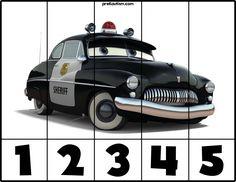 FREE! Cars #1-5 Puzzles - Autism & Education