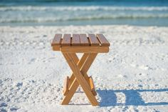 The Sunrise Chair Co. Side Table makes a great addition to a beach chair and umbrella set with durability in mind. Garden Chairs For Sale, Home Furniture, Outdoor Furniture, Outdoor Decor, Wicker Patio Chairs, Cool Chairs, Picnic Table, Outdoor Living, Table Settings