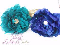 flores de flamenca de seda salvaje. www.lolitasfieltro.com