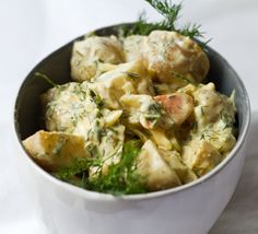 *Vegan* Creamy Dill Potato Salad from the 'Healthy. Happy. Life.' blog. This is actually one of the best potato salads I've ever had. I definitely added corn and celery for the extra crunch.