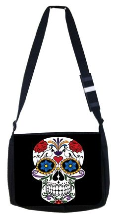 Skull keliedescope Rosie Parker Inc. TM Medium Sized Messenger Bag 11.75' x 15.5' * Details can be found by clicking on the image. (This is an Amazon Affiliate link and I receive a commission for the sales)