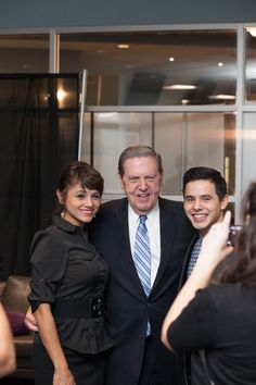 Elder Jeffrey R. Holland and singer David Archuleta at the #MeetTheMormons movie premiere. Learn more about the film at meetthemormons.com -- exclusively in theaters 10/10!