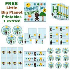 Free Little Big Planet Party Printables + Extras! – Free Party Printables at Printabelle