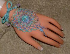 Ocean Colored Filagree Ring Bracelets or Barefoot Sandals