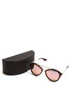 8645952b8a81f Prada Eyewear Aviator acetate sunglasses Eyewear