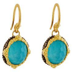 Armenta Old World Peruvian Opal Earrings with Diamonds YJ85AKF